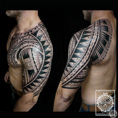 tatouage polynesien-polynesian tattoo: polynesian maori tribal tattoo