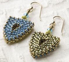 Tesserae Earrings by Marcia DeCoster at Jewelryartistmagazine.com