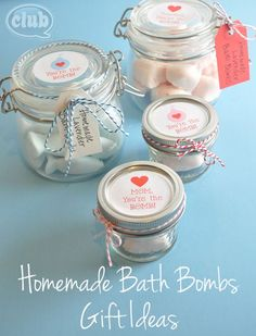 Homemade Bath Bombs in a jar with free printable...You're The Bomb!  Great craft idea for kids