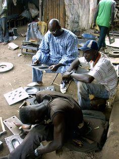 Cheick Diallo y sus artesanos en Bamako