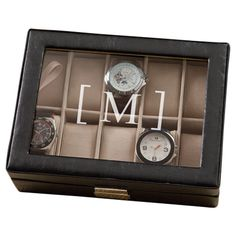 Personalized William Leather Watch Case - The perfect gift for the dapper gent in your life (or treat just for you), this leather watch case showcases personalized details for a thoughtful touch.