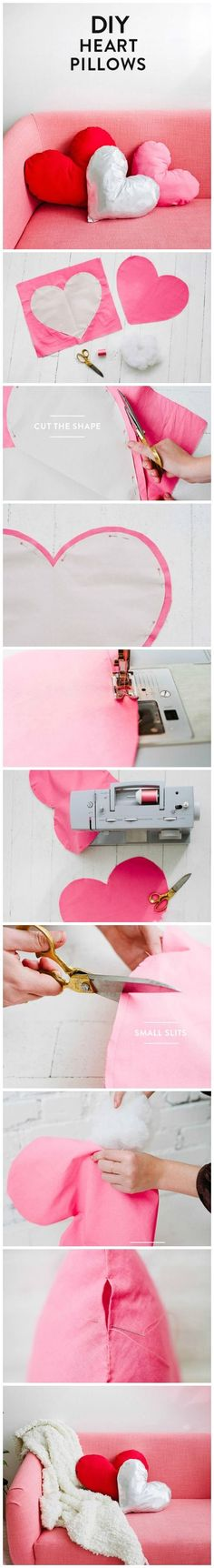 Heart Pillows | DIY Valentines