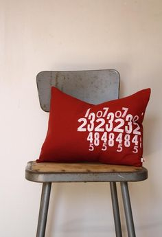 Numbers  12 x 16 Removable Pillow Cover with Insert by NestaHome, $28.50
