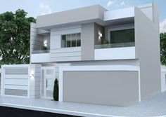 House Facade Design Traditional Ideas Ideas For 2019 Bungalow House Design, House Front Design, Modern House Design, Exterior Paint Colors For House, Paint Colors For Home, Exterior Colors, Modern House Facades, Modern Architecture, Amazing Architecture