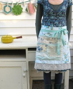 by dottieangel on Etsy Apron Patterns, Clothing Patterns, Sewing Aprons, Sewing Clothes, Dottie Angel, Pinafore Apron, Kaftan Style, Farmhouse Aprons, Cool Aprons