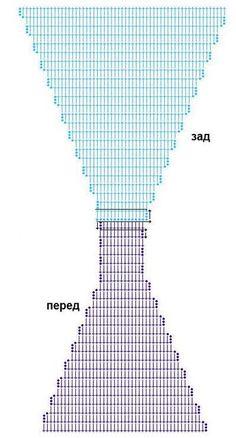 Вязаный купальник схема / Хенд мейд