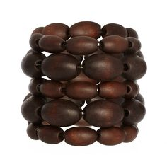 Pieces Taffa Bracelet ($6.14) ❤ liked on Polyvore featuring jewelry, bracelets, accessories, cuff jewelry, wooden beads jewellery, beading jewelry, beaded jewelry and wood bead jewelry