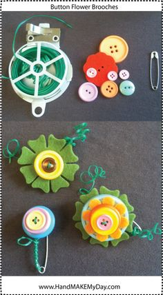 Andrea's Fun Flower Brooches