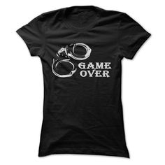Game Over Shirt for Police Officers T SHIRT