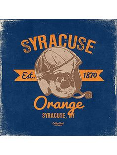 Vintage Style Syracuse University Orange Football Canvas Art from SU Bookstore online