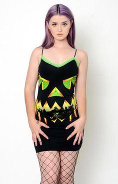 496da5e2730 Pumpkin Halloween Lace Strap Dress