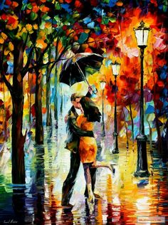 Dance Under The Rain Lighted Canvas Wall Art. This Dance Under The Rain Lighted Canvas Wall Art has an on/off switch to light up any room in the house. Perfect for any dance fans. Figure Painting, Oil Painting On Canvas, Canvas Wall Art, Rain Painting, Couple Painting, Framed Canvas, Umbrella Painting, Street Painting, Lighted Canvas