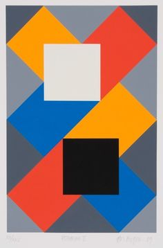Artwork by Paul Osipow, Katharine II, Made of serigraph Geometric Painting, Geometric Art, Abstract Art, Graphic Design Illustration, Graphic Art, Illustration Art, Art Abstrait, Art Plastique, Abstract Pattern