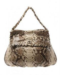 Zagliani 'Ninette' painted python shoulder bag