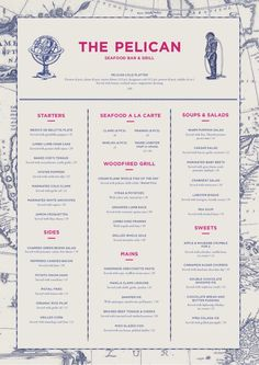 restaurant menu design typography