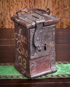 Decorative Arts Cheap Sale Antique Cast Iron Alms Box Religious Metalware