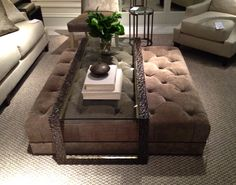 Tuffted Ottoman/coffee Table  Love This Dalliance Design