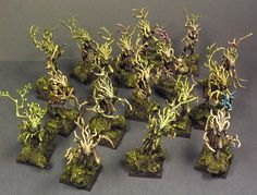 Here are the final pics of the army and the units one by one.    Wardancers   Glade Guards 1   Glade Guards 2   Glade Guards 3   Ancient Tre...