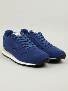 Reebok Mens Royal Blue CL LUX TXT Sneakers