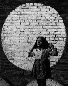 Girl in Painted Spotlight - Arthur Tress, 1968