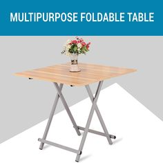 PORTABLE AND STURDY - This light weight table can be folded into half it's size. This makes it extremely easy to carry around. The compact design does not take its strength away, it can withstand up to 50 kgs. Foldable Coffee Table, Outdoor Camping, Indoor Outdoor, Wood And Metal, Solid Wood, Sheesham Wood Furniture, Bedside Tables, Compact, Nest