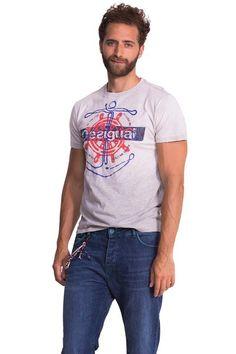T-shirt blanc Desigual, modèle Anchorhelm. Découvre  plus se www.stylissimo.ca