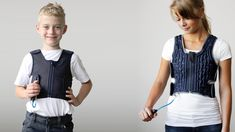 Squease is an inflatable pressure vest designed for people who have difficulties processing sensory information, like people with autism, ADHD, sleeping or anxiety disorders.