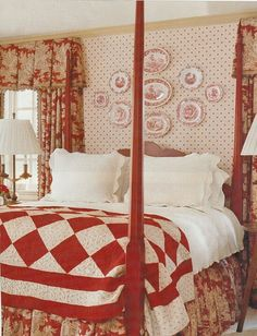 1000 images about country red master bedroom on pinterest toile bedding red and white and Master bedroom with red bedding