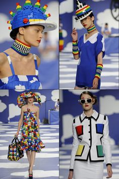 Lego 80's inspired colourful fashion by French designer JC de Castelbajac.