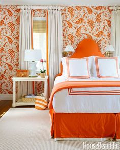 The bold orange hue