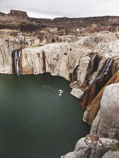 Low water at Shoshone Falls, near Twin Falls, Idaho.