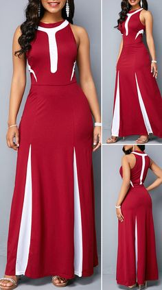 Sleeveless High Waist Zipper Back Dress Modest Dresses, Stylish Dresses, Cute Dresses, Casual Dresses, Beautiful Dresses, Summer Dresses, Modest Clothing, Chic Dress, Classy Dress
