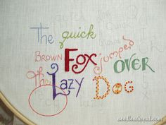 embroidery stitches letters - Google Search