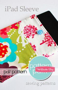 iPad, iPad Mini Sleeve Downloadable PDF Pattern Pattern Patti