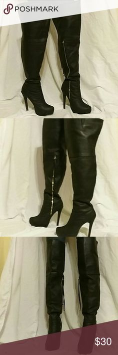 Sexy black thigh highs 4 1/2 inch heel, over the knee, very comfortable Shoes Over the Knee Boots