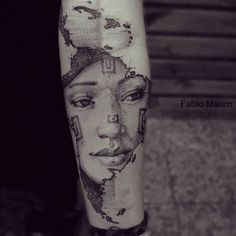 """""""America latina"""". Sketch work style map of South America on the left inner forearm. Tattoo Artist: Fabio Mauro"""