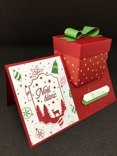 Bag Boxes Trend - Marque Place Boîte Chocolat the bag-boxes have been stalking us for longer and with more insistence of what we think, so it's not crazy to say that 2018 will finally be your moment. Stampin Up Christmas, Handmade Christmas, Christmas Diy, Diy Cards, Christmas Cards, Christmas Crafts For Adults, Diy And Crafts, Paper Crafts, Shaped Cards
