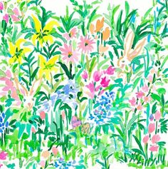 Lily Pulitzer Painting, Lilly Pulitzer Prints, Lily Painting, Easter Wallpaper, Iphone Wallpaper, Patterned Vinyl, Thing 1, Botanical Illustration, Illustration Art
