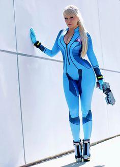 Raychul Moore - Samus Aran (Zero Suit Version) - Cosplay - Metroid Male Cosplay, Cosplay Diy, Best Cosplay, Anime Cosplay, Cosplay Girls, Samus Aran Zero Suit, Supergirl Comic, Anime Expo, Female Actresses