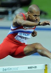 Felix Sanchez - 2004 and 2012 Olympic gold medalist in 400 meter hurdles