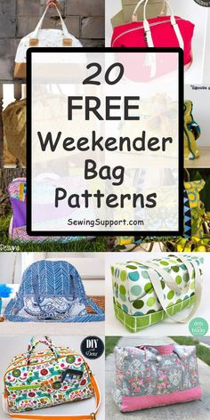 Over 30 Free Weekender Bag patterns, tutorials, and diy sewing projects. Over 30 Free Weekender Bag patterns, tutorials, and diy sewing projects. Sew these large travel overnight bags that Diy Sewing Projects, Sewing Projects For Beginners, Sewing Hacks, Sewing Tutorials, Sewing Tips, Bags Sewing, Diy And Crafts Sewing, Sewing Patterns Free, Free Sewing