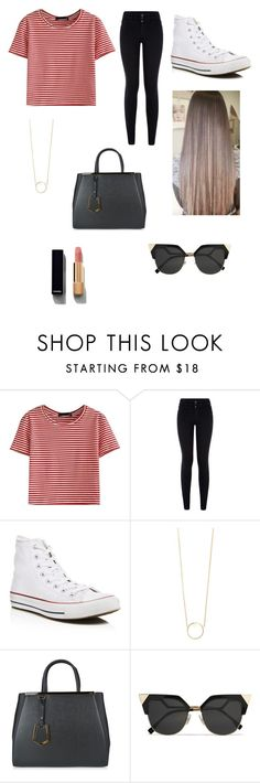 """""""Untitled #174"""" by sadiecoda on Polyvore featuring WithChic, New Look, Converse, Zoë Chicco, Fendi and Chanel"""