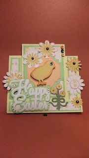 Easter center ladder card with mini buttons