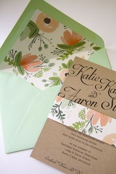 Custom Wedding Invitation Suite // Rifle Paper Co. Liner // - from Write Impressions - Royal Oak, MI