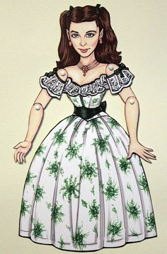 Scarlett O'Hara paper doll - Gone with the Wind - Vivien Leigh