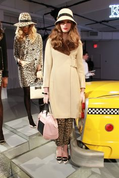 a favorite look from kate spade fall 2013 {camel coat and chapeau with bow details}