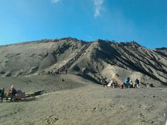 Bromo crater above