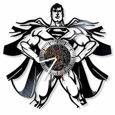 Superman - DC Comics character superhero vinyl wall clock...