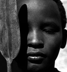 Herb Ritts - Loriki with Spear, Africa, 1993.
