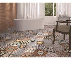 Andalucia Patterned Porcelain Wall And Floor Tile  - Andalucia from Tile Mountain